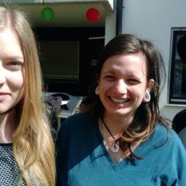 Berit Soukup,  Sarah Akinci en Dorian L. Madel, jonge mensen uit Duitsland